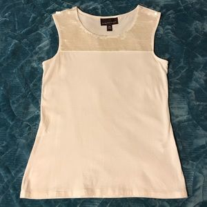 Dana Buchman Cream Tank Top